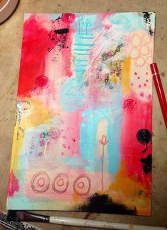 The Kathryn Wheel: Messy messy art journaling!