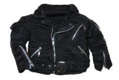 Great gift! Crochet baby's motorcycle jacket from Etsy