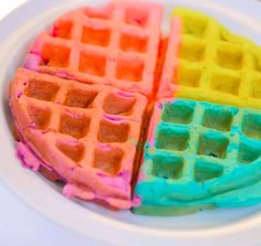 Take waffles up a notch with this rainbow waffles recipe! All you need is waffle mix and your favorite food coloring for this tasty and beautiful treat.