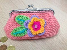 Crochet coin purse handbag by CreationPatchworkEwa on Etsy