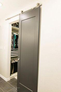 New Sliding Door Hardware Diy Modern Barn Ideas Room Doors, Door Installation, Interior, Diy Barn Door Cheap, Modern Sliding Doors, Doors Interior
