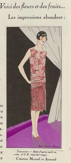 Art - Goût - Beauté, Feuillets de l' élégance féminine, Février 1926, No. 66, 6e Année, p. 12: Création Martial et Armand, Anonymous, Martial et Armand, Charles Goy, 1926