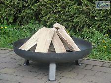 Feuerschale Aus Stahl 790 Mm / Mit 3 Beinen Und 2 Griffen + Gratis ... Feuerkorb Im Garten Gestaltungstipps