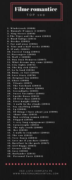 100 de recomandari de filme romantice pentru cupluri. Movies To Watch, Good Movies, Sing Street 2016, Netflix, Mood Indigo, The Infernal Devices, Good Books, Diana, Vsco
