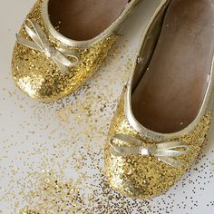 Put the sparkle back into a girl's pair of dress shoes.