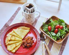 Jeffy。Happy Life: 悠閒早餐~法式薄班㦸配玉桂蘋果醬