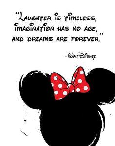 Disney Quote Poster, Digital Download, Children's Decor, Printable Wall Art, Minnie Mouse, Pr...