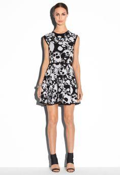 SKULLS KNIT JACQUARD FLARE DRESS - Dresses - Shop By Category MILLY NY