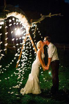 end-of-the-night wedding shot, photo by Sarah Rose Burns Photography http://ruffledblog.com/colorado-wedding-under-the-super-moon #weddingportrait