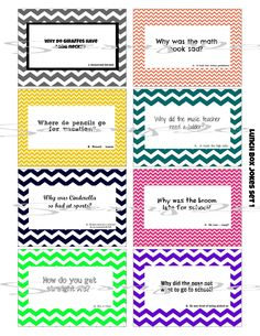 Printable Lunch Box Jokes | School LUNCH BOX Jokes - (8) Printable lunchbox Notes Images for kids