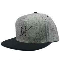 Huf Tweed Script Snapback Hat (Black) $33.95
