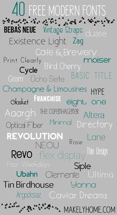 40 Free Modern Fonts