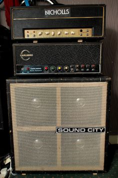 Nicholls head, Carlsbro PA60 and Sound City 4x12 - my guitar amp set up.