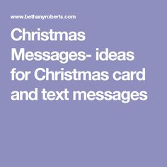 Christmas Messages  Ideas For Christmas Card And Text Messages