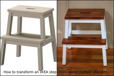 Lilyfield Life: Transforming an IKEA step stool,,mine is pretty grungy