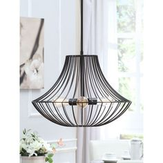 Shop for Renate 3-light Distressed Iron Black Wire Chandelier. Get free shipping at Overstock.com - Your Online Home Decor Outlet Store! Get 5% in rewards with Club O! - 14866467