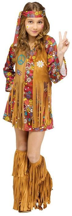 Girls' Peace and Love Hippie Costume - Candy Apple Costumes - Girls' Costumes