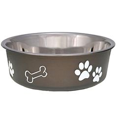 Loving Pets Bella Bowl Dog Bowl, Stainless Steel Food Bowl, Medium, Espresso #LovingPets