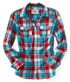 Long Sleeve Tai Plaid Woven Shirt - Aéropostale®