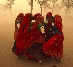 """Steve McCurry, """"I was in a taxi in 1984, driving through the desert in Rajasthan in north-west India. It was June, the hottest month, and this sandstorm whipped up. It went from a clear, sunny day to dark and dusty, with a very strong wind."""