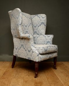 Elegance And Comfort In Equal Measure... A Late 19th Century Wing Armchair  From