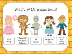 Yellow Brick Road Social Skills: 61 pages: preschool- middle school. Parent Letters, activities, posters, you-tube links, homework and more.