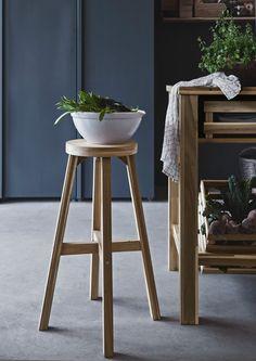STUDIO: Ikea Skogsta kitchen stool ; Gardenista