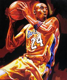 Kobe Bryant NBA Star Portrait - Impasto Heavy Textured Color Style Photo to Art Lily Painting, House Painting, Kobe Bryant Michael Jordan, Kobe Bryant Nba, Photo To Art, Portraits From Photos, Black Mamba, Oil On Canvas, Canvas Size