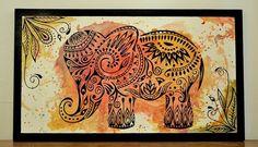 Mi elefante hindu serie: Henna