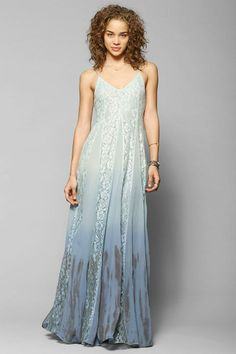 Kimchi Blue Beyond The Sea Lace-Inset Maxi Dress #urbanoutfitters