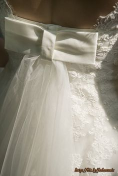 Wedding dress detail on the back
