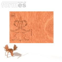 Wooden Postcard by Formes Berlin Berlin, Sustainable Forestry, Short Break, Hunting Season, Three Dimensional, Art Museum, Objects, Greeting Cards, Prints