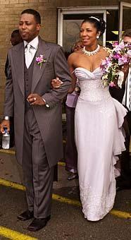 Bishop Kenneth Dupree & bride Natalie Cole (2001) (Ezine - Wedding on-line magazine)