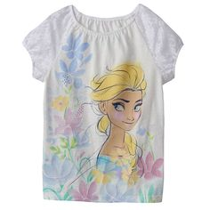 Disney's Cinderella Lace-Trim Floral Tee by Jumping Beans® - Girls 4-7