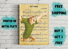 Disney Notre Dame Quasimodo Out There Music Art Metal Disney Art, Notre Dame, All Things, Buy And Sell, Metal, Music, Prints, Books, Poster