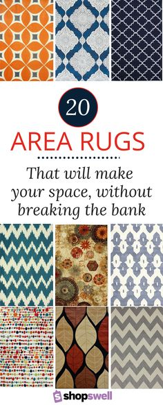 An area rug can make or break your space. Thankfully, with these gorgeous rugs priced under $160 they won't break the bank.