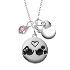 Disney's Minnie Mouse & Mickey Mouse Sterling Silver Charm Pendant Necklace - Made with Swarovski Elements (as of 2/9/2016)