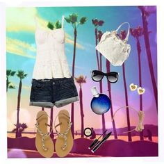 """""""summer on the beach"""" by cupcakeige ❤ liked on Polyvore"""