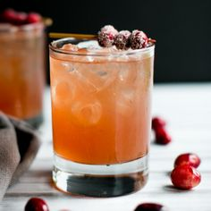 A refreshing ginger beer, cranberry & fresh orange juice cocktail garnished with Sugared Cranberries. Introducing The Big Sister.