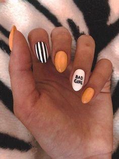 Summer nails, nails are, nails design, trendy nails. nail designs for summer short nail designs 2019 self adhesive nail stickers nail art stickers at home best nail polish strips 2019 Summer Acrylic Nails, Best Acrylic Nails, Summer Nails, Matte Nail Art, Cute Nails, Pretty Nails, Gel Nails, Nail Polish, Coffin Nails