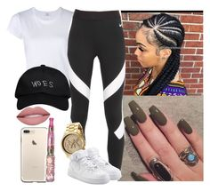 """""""💦"""" by saucinonyou999 ❤ liked on Polyvore featuring RE/DONE, OPI, NIKE and October's Very Own"""