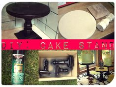 I want to make my own cake stand!!!  #Cake Stand #DIY #Cupcakes #Wood stand #Cake #Decor