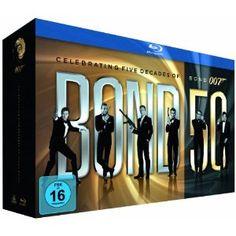 50 Jahre James Bond 007 - 22 Filme auf Blue-Ray.