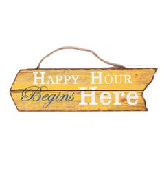Escape To Paradise Arrow Wall Decor-Happy Hour Begins Here