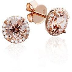 Morganite Tearoom Earrings (£1,595) ❤ liked on Polyvore featuring jewelry, earrings, accessories, wrap earrings and earrings jewelry