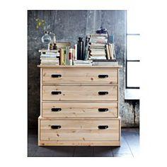 Éste es el que hace juego con nuestra cama FJELL 4-drawer chest - IKEA 299 dlls