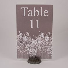 Do not leave it to the catering company to stick plain table numbers on your tables. With this Pinnovation die, A9 table numbers can be designed to bleed and can be cut out in minutes.