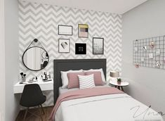 Pin by Sydney on New room ideas in 2019 Room Ideas Bedroom, Small Room Bedroom, My Room, Girl Room, Bedroom Decor, Small Rooms, Decor Room, Trendy Bedroom, Spa Bedroom
