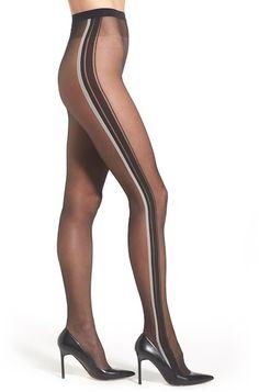 WOLFORD 'Rahel' Stripe Sheer Tights
