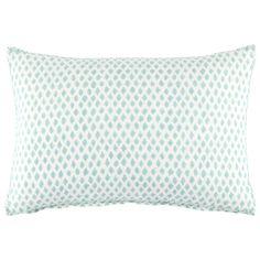 John Robshaw Textiles - Kamala Seaglass Decorative Pillow - Lamai - PILLOWS in front of euro